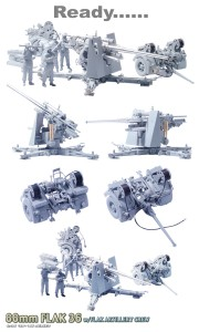 88mm FLAK 36 w/FLAK ARTILLERY CREW - DML 6260