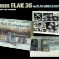 88mm FLAK 36 w/FLAK ARTILHARIA da equipe - DML 6260