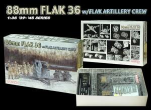 88mm FLAK 36 w/FLAK ARTIGLIERIA EQUIPAGGIO - DML 6260