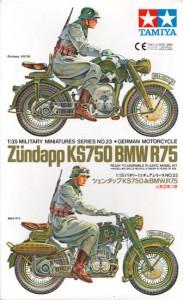 ドイツのBMW R75 & ズンダップ KS750 - タミヤ 35023