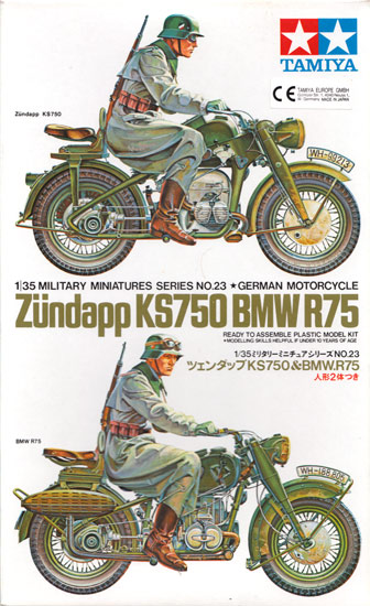 German BMW R75 & Zundapp KS750 - Tamiya 35023
