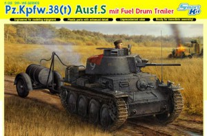Pz.Kpfw.38(t) Ausf.S Fuel Drum trailer DML 6435