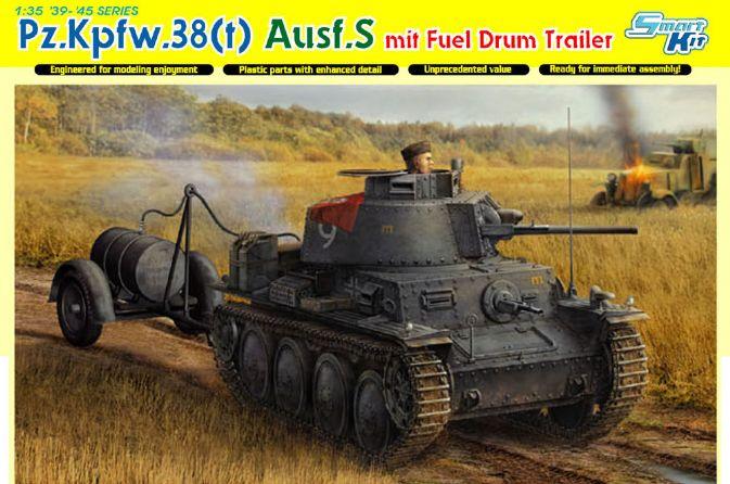 Pz.Kpfw.38(t) Ausf.S mit Fuel Drum Trailer - DML 6435