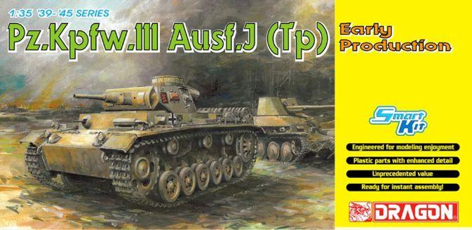 Pz.Kpfw.III Ausf.J (Tp) Produção Precoce - DML 6543