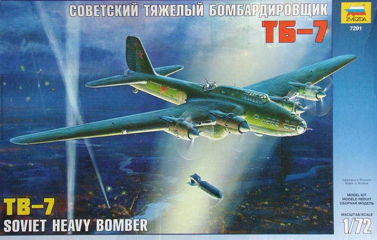 TB-7 Sovětský Těžký Bombardér - Zvezda 7291