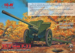 76,2 mm F-22 la seconda GUERRA mondiale Sovietica Divisionale Pistola - ICM 35702