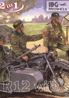 BMW R12 with sidecar military version - IBG 35002