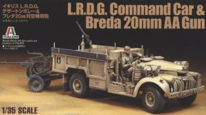 British L.R.D.G. Command Car & Breda 20mm AA Gun - Tamiya 89785