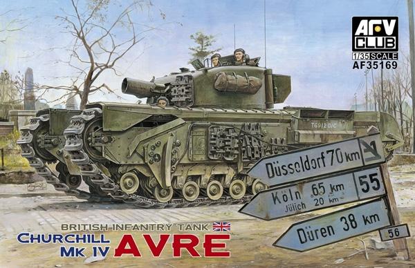 Britská pechota tank Churchill MK IV AVRE - AFV Klub 35169