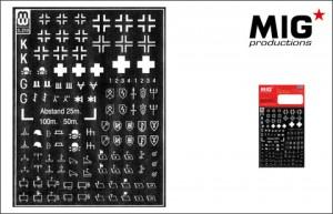 Krzyż i symbole Wehrmachtu - 3-210 mig Mw