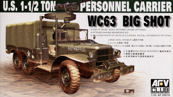 Dodge WC-63 6X6 Personál Carrier Truck - AFV Klub 35S18