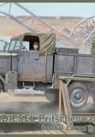 ディーゼルユニットフラットベッドトラック-弊35003