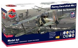 Fairey Swordfish MkI Ensemble-Cadeau - Airfix A50133