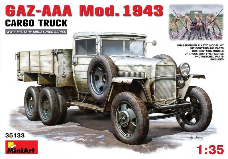GAZ-AAA-Mod. 1943. Lastin Kuorma-Auto - MiniArt 35133