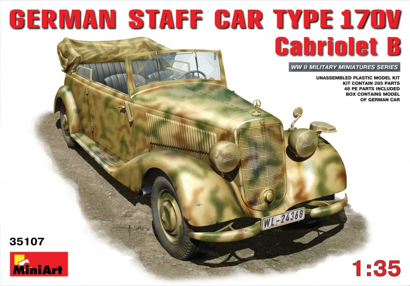 GERMAN CAR TYPE 170V Cabriolet B - MINIART 35107