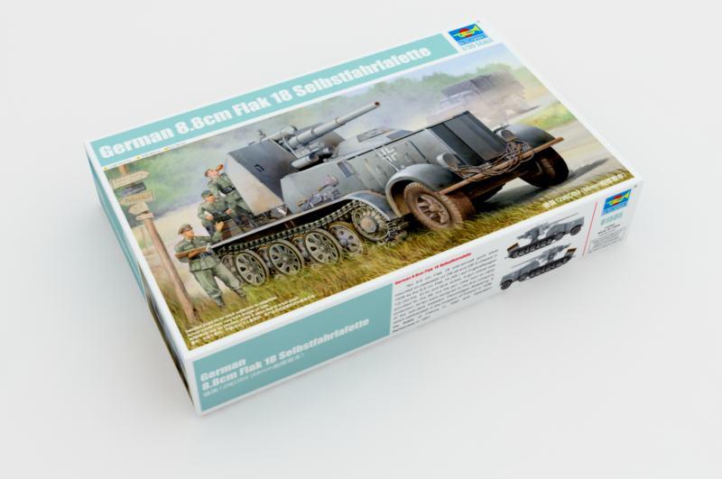 German 8.8cm Flak 18 Selbstfahrlafette - Trumpeter 01585