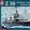 Nemecký Destroyer Z-38 - Narvik Triedy - Revell 5106
