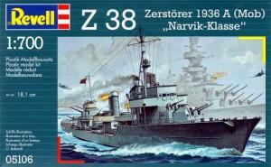 Deutscher Zerstörer Z-38 - Narvik-Klasse - Revell 5106