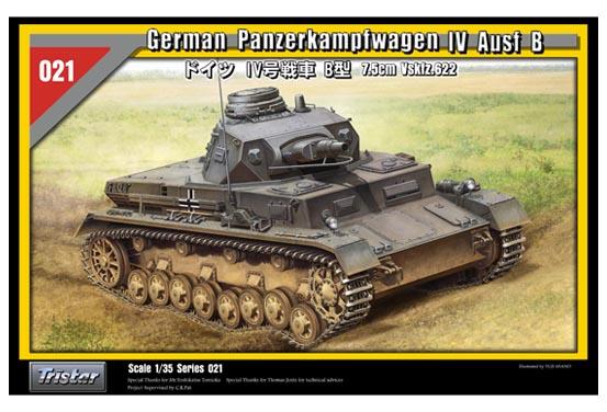 Tysk Panzerkampfwagen IV Ausf B - TRISTAR 35021