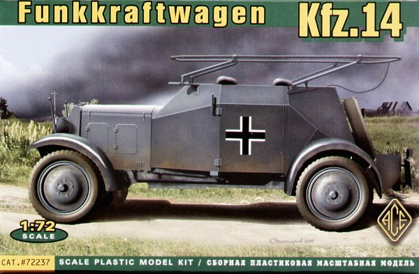 Rádio Alemã Carro Kfz.14 Funkkraftwagen - Ás Modelos 72237