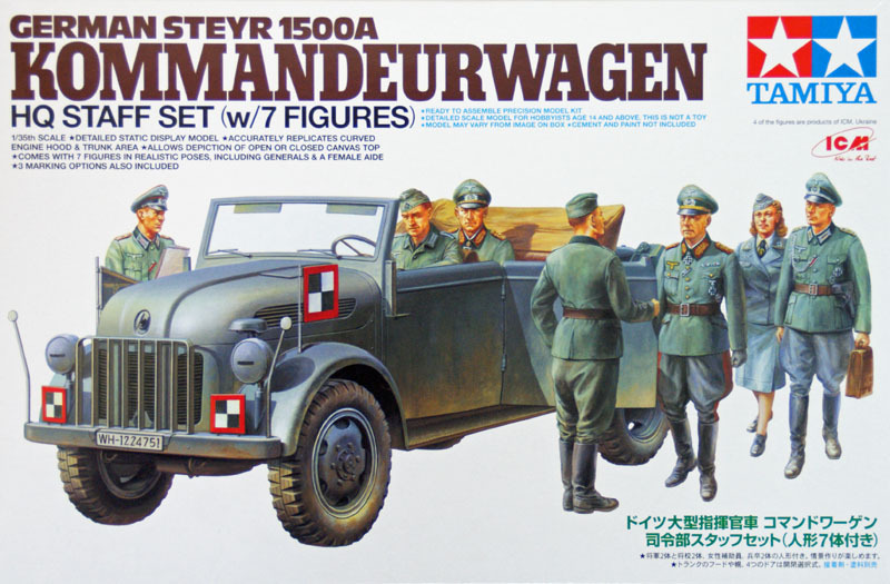 Different Jeep Models >> German Steyr 1500A Kommandeurwagen - Tamiya 25149 - Kit - English
