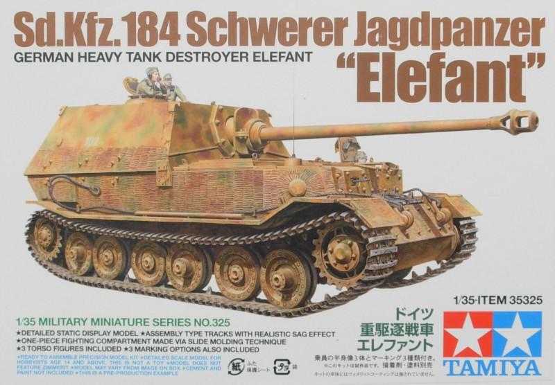 Tysk Tank Destroyer Elefant 35325 Tamiya