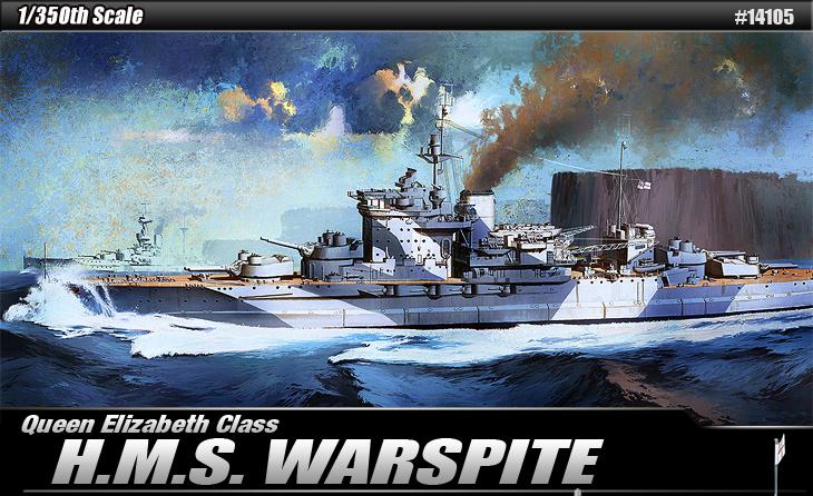 H. M. S. WARSPITE - ACADEMIA 14105