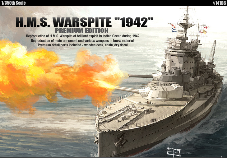 H.M.S. Warspite 1942 Преміум видання - АКАДЕМІЯ 14108
