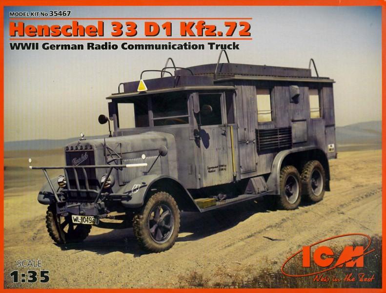 Henschel 33D1 Kfz.72 Rádiové Komunikace Auto - ICM 35467