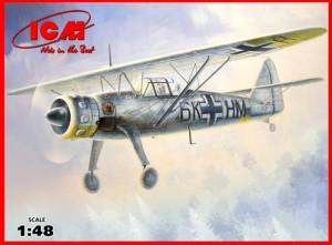 Hs 126B-1 WWII tyske Rekognosceringsfly - ICM 48212