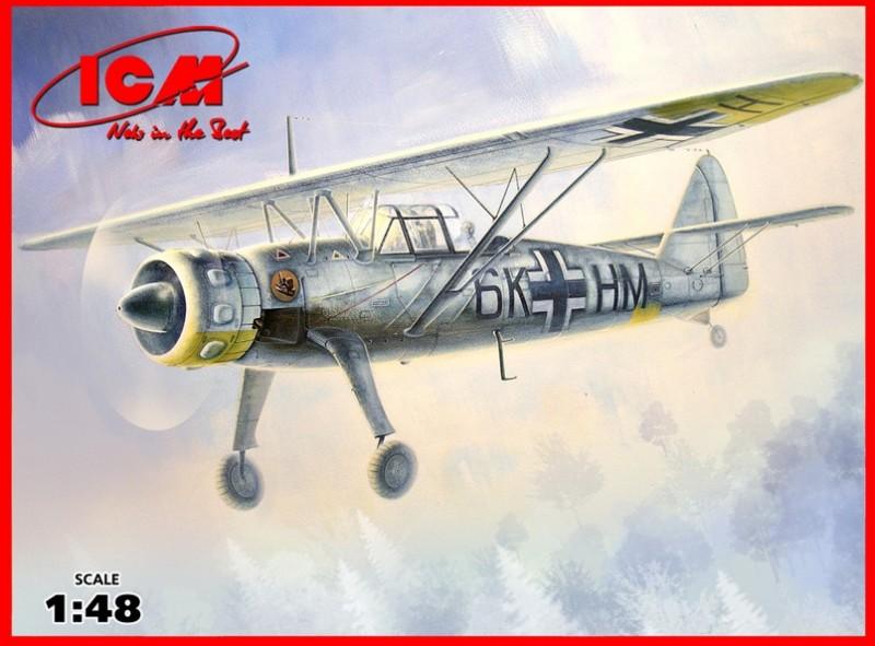Hs 126 B-1 WWII saksalainen tiedustelukone - ICM 48212