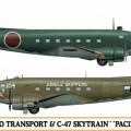 L2D Zero Transport & C47 Skytrain (2 kits) Limited Edition - Hasegawa 10687