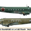 L2D Zéro Transport & C-47 Skytrain (2 kits) Édition Limitée - Hasegawa 10687