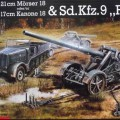 Mörser18/17cm Kanone18日和Sd。 车 9Famo-Revell3188