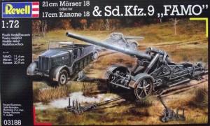 Mörser 18/17 cm-Kanone 18 och Sd. Bil. 9 V - Revell 3188