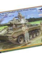 M-24 Chaffee Lys Tank w/Besætning Set - Bronco CB35069