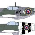 野马MKIII RAF组合的限量版-长谷川01985