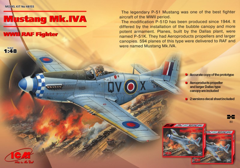 Mustang Mk.IVA - RAF Fighter - ICM-48155
