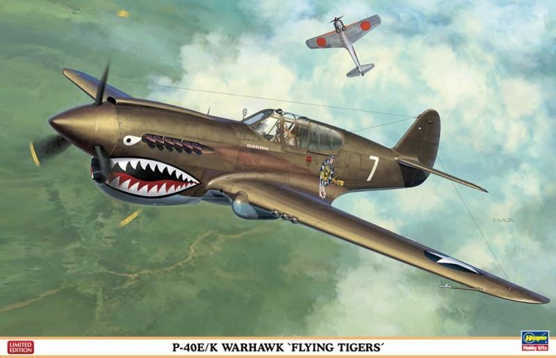 P-40E/K Warhawk Lendavad Tiigrid Limited Edition - Hasegawa 08226