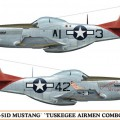 P-51D Mustang tuskegee-i Pilóták Limited Edition - Hasegawa 01991