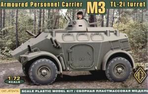 Panhard 社의 M3 4 × 4 APC TL-2I 터렛 - 에이스 모델 72414