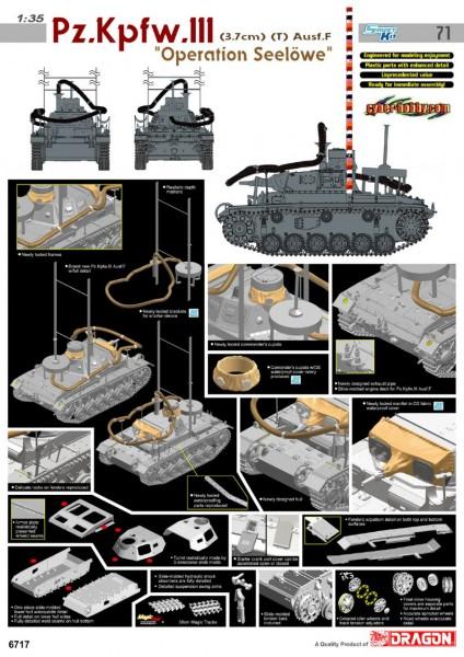 Pz.Kpfw.III Ausf.F - Operation Seelowe - Cyber-Hobby 6717