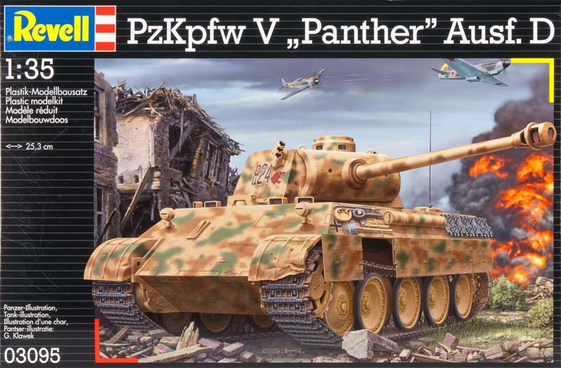 PzKpfw V - Sd.Kfz.171- Panther Ausf.D - Revell 03095