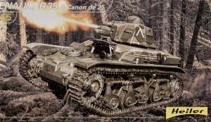 Renault R35 & Canon de 25 - Heller 81133