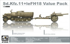 Sd.Kfz.11+leFH18 Value Pack - AFV Club 35S48