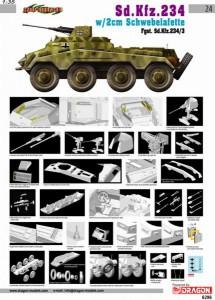 Sd.Auto.234/3 w/2cm plávajúce mount - Cyber Hobby 6296