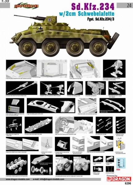 Sd.Kfz.234/3 w/2cm Schwebelafette - Кібер-хобі 6296