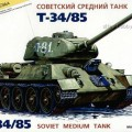 A T-34/85 Szovjet Tank - Zvezda 3533