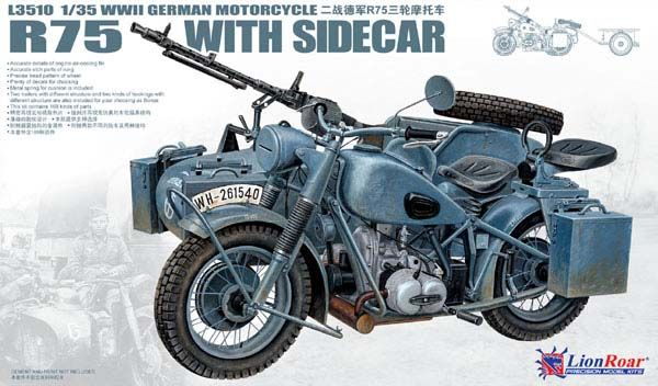 WWII German BMW R75 with Sidecar - Lion Roar LR3510