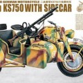 WWII German Zundapp KS-750 with Sidecar - Lion Roar LR3508
